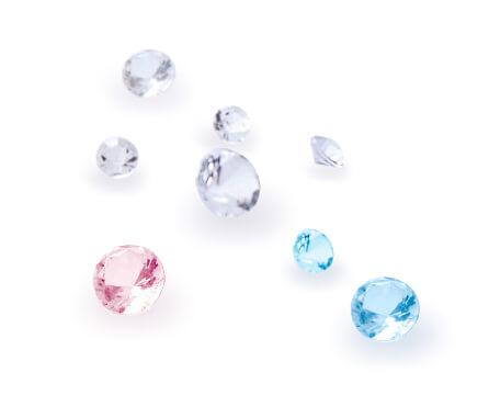 ブルーダイヤ、ピンクダイヤなどの写真