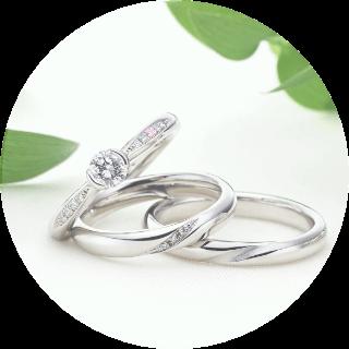 婚約指輪と結婚指輪の宣材写真