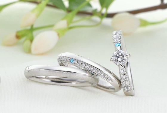 一点一点、職人による手作りの婚約指輪と結婚指輪