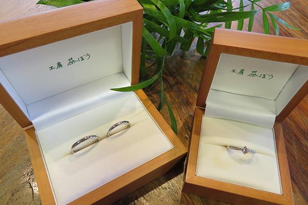 指輪の納品画像