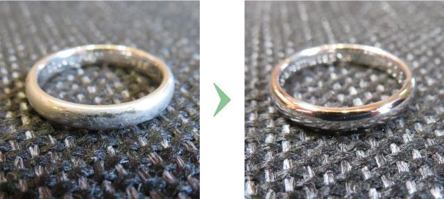 クリーニング前とクリーニング後の画像