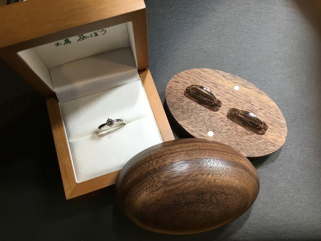 婚約指輪・結婚指輪の納品イメージ